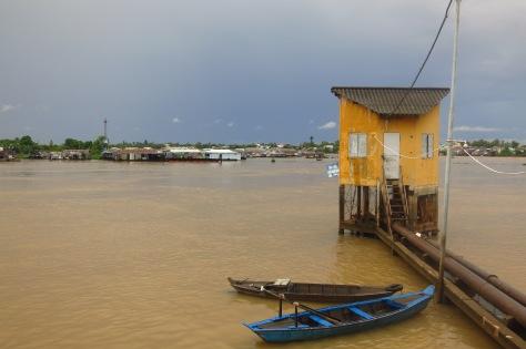 Une belle petite maison sur la Rivière Bassac à Chau Doc