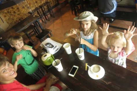 Pause café en famille