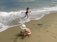 Jouons dans les vagues