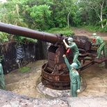 Un des canons qui donnent son nom au fort