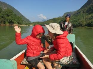 En bateau sur la rivière Nam Ou (ter)
