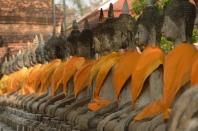Les bouddhas du Wat Yai Chai Mongkhon