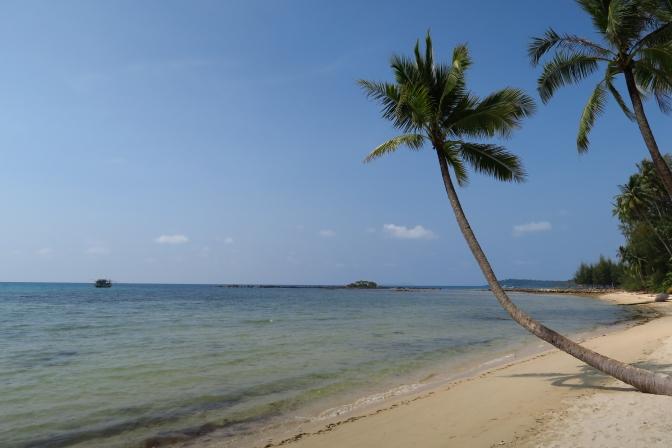 La plage…