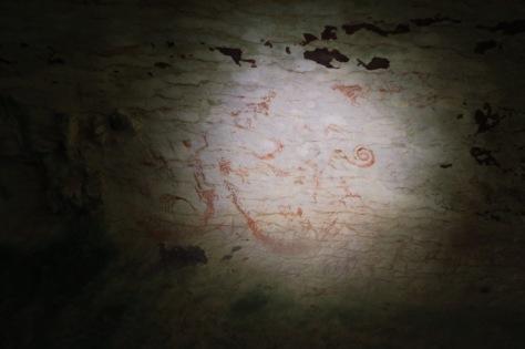Une peinture rupestre