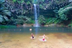 La baignade dans l'eau fraîche