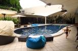 nous avons préféré le calme de la piscine!