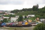 Ce ne sont pas des églises, mais les palafitos - maisons sur pilotis - de Castro sont aussi remarquables