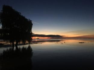 Coucher de soleil sur le Rio Uruguay