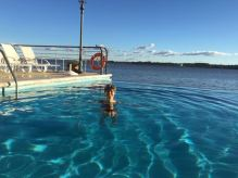 Cela semble idyllique... mais l'eau est très froide!