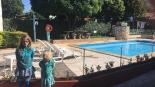 La piscine (très froide) de l'hôtel