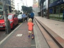 En trotinette à Lima