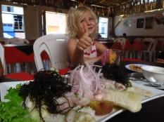 Un délicieux plat de poisson cru